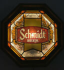1978 Schmidt Beer Faux Wood Octagon Shaped Lighted Sign