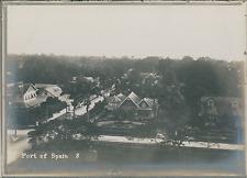 Trinité-et-Tobago, Port-d'Espagne, vue panoramique sur le capitale  Vintage