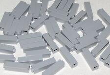 Lego Lot of 50 New Light Bluish Gray Bricks 1 x 1 x 3 Column Parts