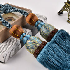 1 Pair of Curtain Holdbacks Rope Tie Back Tassel Tieback Weaving Home Decoration