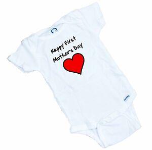 Happy First Mother's Day Onesie / Romper / Bodysuit Great baby shower Gift