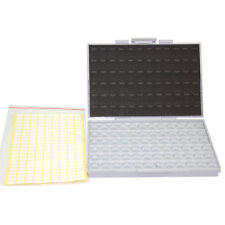 SMT resistor storage box Organizer 0603 0805 72 compartments 198 labels        r