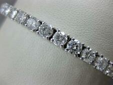 "Modern 10.5ctw Diamant 14k Weissgold Runde Tennis Armband 6.75 "" 4.5M G/H K1360"