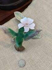 Bovano Of Cheshire Glass Enamel on Copper Wall Hanging USA Art Hummingbird NICE