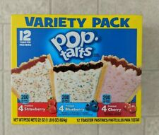 Kellogg's Pop-Tarts 12 Ct Variety Pack - Frosted Strawberry, Cherry & Blueberry