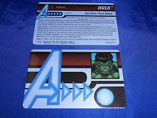 Heroclix Marvel Hulk ID Card AUID-102 Age of Ultron Month 2 OP LE Whizkids