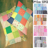 50PCS Crafts Cotton Fabric Bundle Patchwork DIY handmade Sewing Quilting Cloth