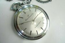 Great Condition ! Citizen Diamond Flake Pocket Watch