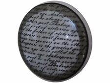 Möbelknopf Keramik weiß mit Schrift Griff Chic Antique French shabby Landhaus
