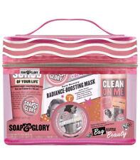 Soap & Glory Original Pinkly Wash Bag Christmas Gift Set,Luxury Bath Pamper Set