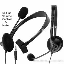 Small Headset Headphones + Mic Live Chat for PS4, xBox One, PCs, iPads, Tabs