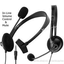 PETIT Casque écouteurs + Micro Live Chat pour PS4, Xbox One, pièces, iPads, Tabs
