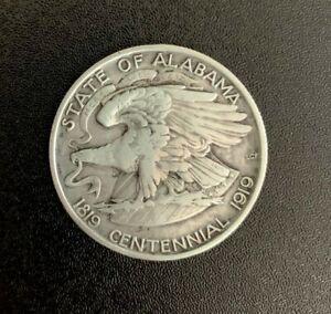 1921 State of Alabama Centennial Commemorative Half Dollar 50c Coin VF-XF