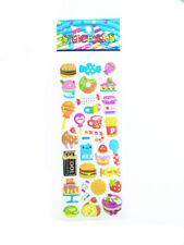 2017 Food Cartoon Hamburger Bubble Wall Stickers Kids Favor Christmas Gifts