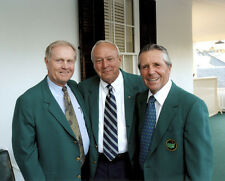JACK NICKLAUS ARNOLD PALMER GARY PLAYER 8X10 CELEBRITY PHOTO THE MASTERS
