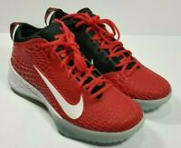 🔥NEW! NIKE Force Zoom Trout 5 Baseball Turf Men's SZ 10 Red/ White AH3374-601🔥