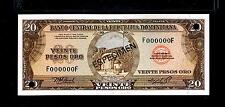 "1976 Republica Dominicana $20 Pesos ORO""SPECIMEN"" UNCIRCULATED"