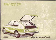 Fiat 128 3P 1975 manual del propietario original no. 603.05.185
