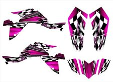 Suzuki LTZ400 graphics decals 2009 2010 2011 2012 2013 2014 2015 2016 #2500-Pink