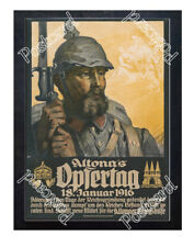 Historic WWI German Poster Altona's Offering Day Postcard