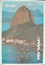 PAN AM AIRWAYS AIRLINES BRAZIL RIO DE JANEIRO Vintage Travel poster 78 NM LINEN
