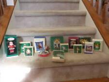 Lot of 14 VINTAGE (mos 1980s) Hallmark Ornaments Clothespin Santa Katybeth Santa