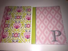 Initial P Notepad With Coordinating Floral Notepad