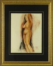 "Alexander Evgenievich Yakovlev ""Standing Nude"" Sanguine on Paper Hand-signed"