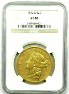 """1872 S Gold Liberty Double Eagle, """"Beautiful"""" $1.00 Start Bid and No Reserve"""