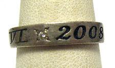 STERLING SILVER DIAMOND ETERNITY RING P VI 2008 SIZE 8  3.6 GRAMS SYBOLL