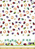 Susybee's Leif, the Caterpillar Border Sheeting 100% cotton fabric by the yard