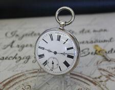Rare antike Schlüssel Taschenuhr in Silber Cylindre Huit Rubis pocket watch St.G
