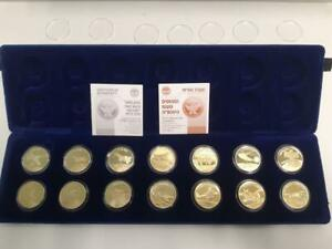 "Israel IDF/IAF ""Airplanes that Made History"" 14 Gold Medals 17g Each, 4.5oz Gold"