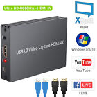 USB 3.0 HDMI Game Capture Card 4K Live Video/Game Capture For PS3 PS4 Xbox Wii U