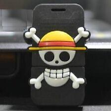 USB Stick 8Gb Pirata Calavera Pirata Hueso Esqueleto Amarillo Silicona Carcasa