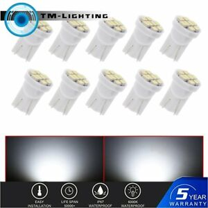10 x White LED Instrument Panel Cluster Dash Light Twist Lock Socket T10 PC194