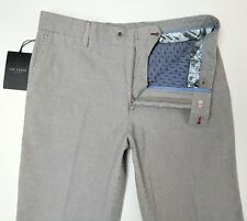 Ted Baker London Mens Chino Trousers Slim Grey Stretch 32 L W32 L34 New RRP£109