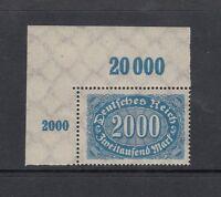 Deutsches Reich Mi-Nr. 253 POR ** postfrisch - Bogenecke mit Bogennummer