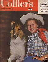 1948 Colliers November 13 - Lassie with Debbie Reynolds
