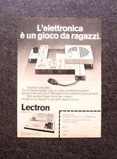 K692-Advertising Pubblicità-1974- LECTRON , L'ELETTRONICA E' UN GIOCO DA RAGAZZI