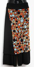 Skants Women's 3/4 Length Skirt And Pants In One Retro Mix SIZE MED