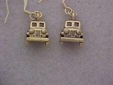 Jeep Charm Earrings for Jeepers -  Front Half -  Drop prox 1/2 inch GP Earwires