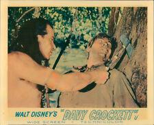 DAVY CROCKETT FESS PARKER WALT DISNEY LOBBY CARD RARE INDIAN WITH TOMAHAWK
