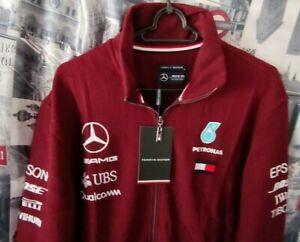Herren  Pullover Mercedes Benz  AMG Tommy Hilfiger Gr XL  Bordo LOGO Motosport