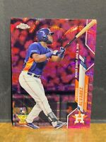 YORDAN ALVAREZ SSP RC PINK WAVE REFRACTOR 2020 TOPPS CHROME UPDATE *PACK FRESH*