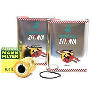 Petronas Selenia 10W-50 Abarth Motoröl 4 Liter Öl SAE 10W50 N°0101 + Ölfilter
