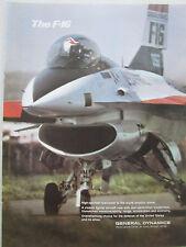 6/1976 PUB GENERAL DYNAMICS F-16 FIGHTING FALCON US AIR FORCE ORIGINAL AD