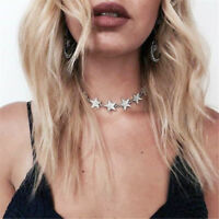Fashion Charm Jewelry Crystal Star Choker Statement Bib Pendant Necklace Collar