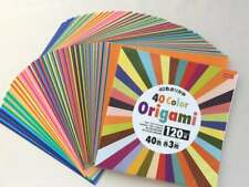"""40 Multi Color 120 Sheets Single Sided Daiso Origami Paper Craft 5.9"""" x 5.9"""""""
