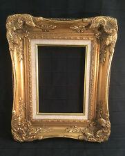 Cadre en bois et stuc doré contemporain style Louis XV 20 x 25 cm